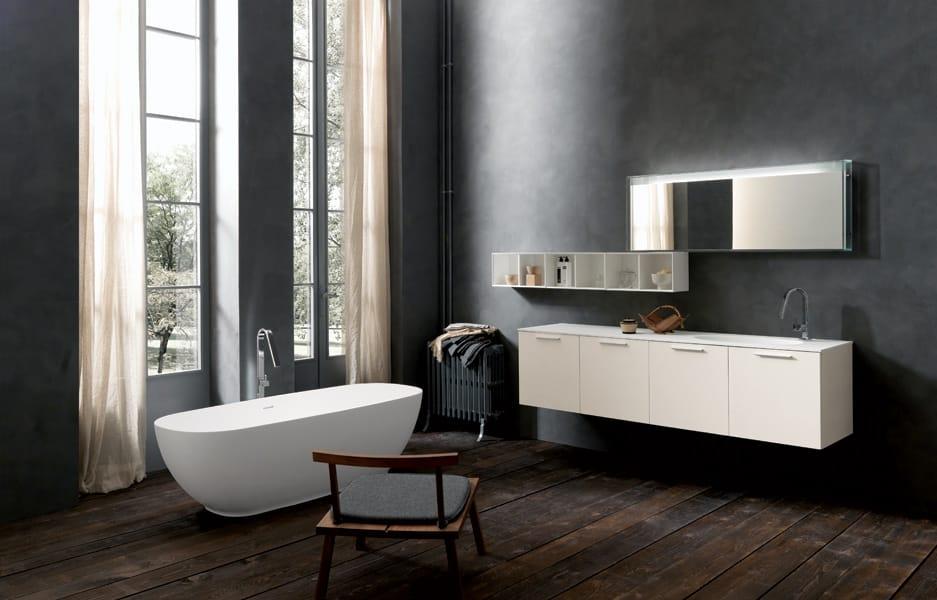 Des salles de bains contemporaines.