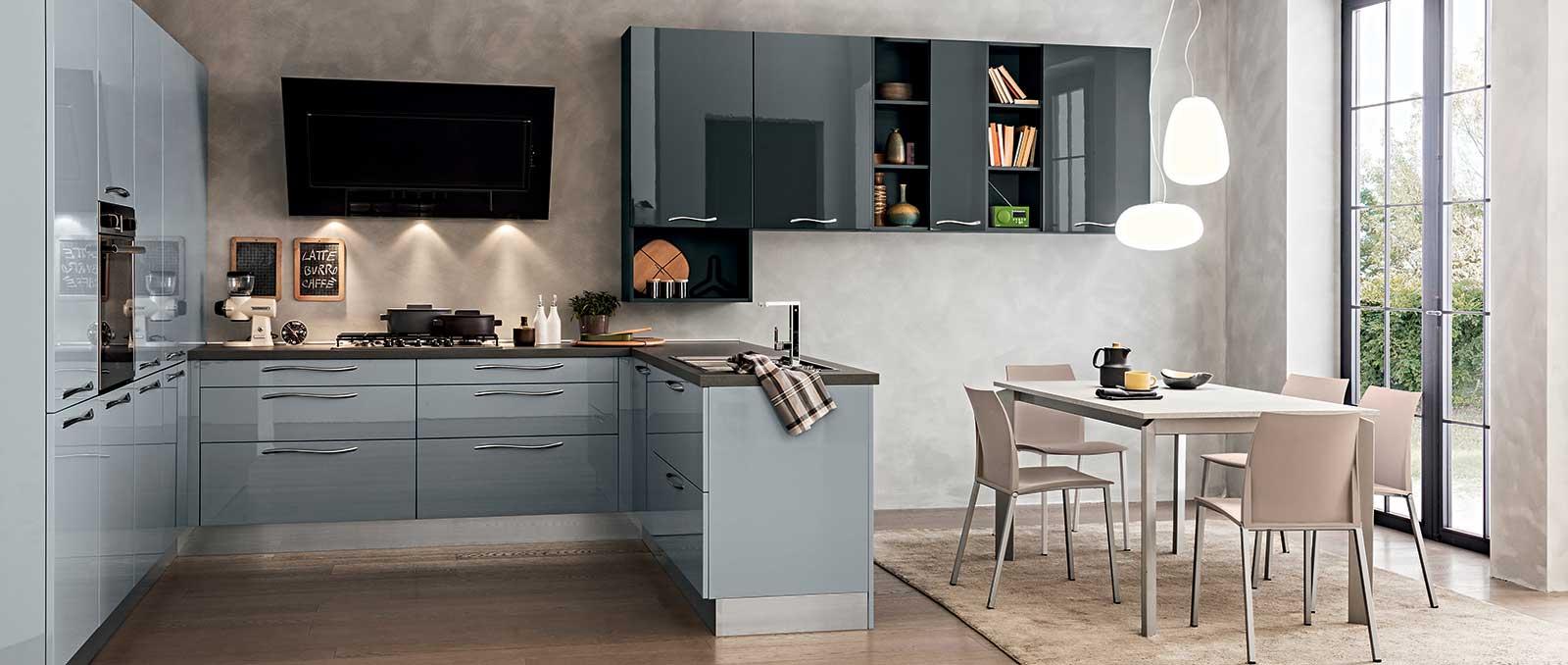 D'esprit innovant et informel, cette cuisine équipée s'intègre parfaitement dans l'espace et le temps.